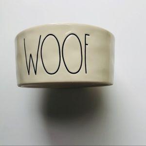 Rae Dunn WOOF Dog Bowl